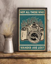 Retro Green Who Wander Are Lost Camera 11x17 Poster lifestyle-poster-3