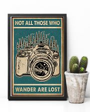Retro Green Who Wander Are Lost Camera 11x17 Poster lifestyle-poster-8