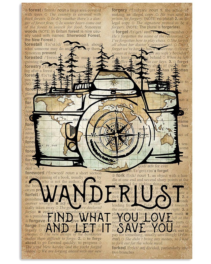 Wanderlust Camera Forest 11x17 Poster