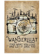 Wanderlust Camera Forest 11x17 Poster front