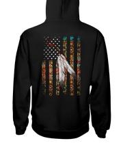 Native American Flag Hooded Sweatshirt back