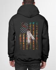 Native American Flag Hooded Sweatshirt garment-hooded-sweatshirt-back-01