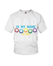 FUNNY DAD IS MY NAME BINGO IS MY GAME Youth T-Shirt thumbnail