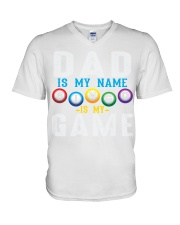 FUNNY DAD IS MY NAME BINGO IS MY GAME V-Neck T-Shirt thumbnail