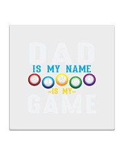 FUNNY DAD IS MY NAME BINGO IS MY GAME Square Coaster thumbnail