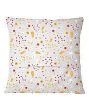 Ornament Square pillow Square Pillowcase back