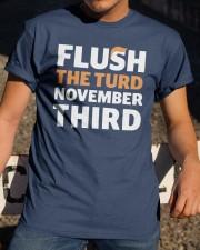 Flush The turd November Third shirt LIMITED UNITS Classic T-Shirt apparel-classic-tshirt-lifestyle-28