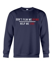 Don't film me  - Shirt - support Black community  Crewneck Sweatshirt thumbnail