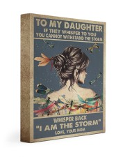 MOM TO DAUGHTER GIFT I AM THE STORM 11x14 Gallery Wrapped Canvas Prints front