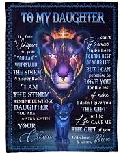 """MOM TO DAUGHTER GIFT LION WHISPERS STORM CROWN Large Fleece Blanket - 60"""" x 80"""" front"""