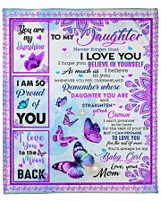 """MOM TO DAUGHTER GIFT BUTTERFLY BELIEVE IN YOURSELF Fleece Blanket - 50"""" x 60"""" front"""