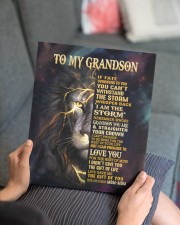 MOM-MOM TO GRANDSON GIFT- FATE STORM CROWN -LION 11x14 Gallery Wrapped Canvas Prints aos-canvas-pgw-11x14-lifestyle-front-25