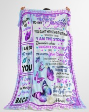 """MOM TO DAUGHTER GIFT BUTTERFLY I AM THE STORM Large Fleece Blanket - 60"""" x 80"""" aos-coral-fleece-blanket-60x80-lifestyle-front-10"""