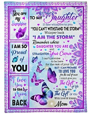 """MOM TO DAUGHTER GIFT BUTTERFLY I AM THE STORM Large Fleece Blanket - 60"""" x 80"""" front"""