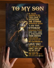 MOM TO SON GIFT- STORM STRAIGHTEN CROWN -LION 11x14 Gallery Wrapped Canvas Prints aos-canvas-pgw-11x14-lifestyle-front-32