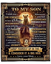 """MOM TO SON GIFT- LION FACE CHALLENGES ADVENTURE Fleece Blanket - 50"""" x 60"""" front"""