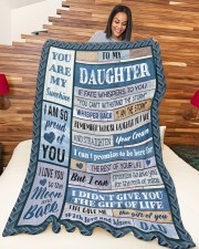 """DAD TO DAUGHTER GIFT- I AM THE STORM- CROWN Large Fleece Blanket - 60"""" x 80"""" aos-coral-fleece-blanket-60x80-lifestyle-front-04a"""