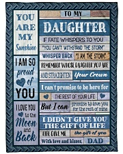 """DAD TO DAUGHTER GIFT- I AM THE STORM- CROWN Large Fleece Blanket - 60"""" x 80"""" front"""