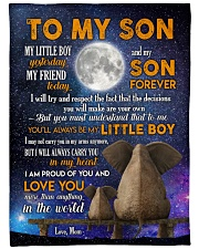 """MOM TO SON GIFT- ELEPHANT CARRY YOU IN MY HEART Large Fleece Blanket - 60"""" x 80"""" front"""