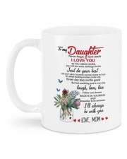MOM TO DAUGHTER GIFT JUST DO YOUR BEST- LAUGH Mug back