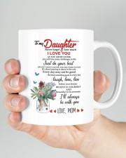 MOM TO DAUGHTER GIFT JUST DO YOUR BEST- LAUGH Mug ceramic-mug-lifestyle-26