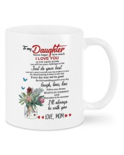 MOM TO DAUGHTER GIFT JUST DO YOUR BEST- LAUGH Mug front