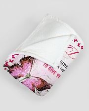 """MOM TO DAUGHTER GIFT- BUTTERFLY- FULL OF LOVE Large Fleece Blanket - 60"""" x 80"""" aos-coral-fleece-blanket-60x80-lifestyle-front-07"""