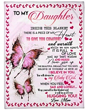 """MOM TO DAUGHTER GIFT- BUTTERFLY- FULL OF LOVE Large Fleece Blanket - 60"""" x 80"""" front"""