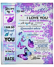 """MOM TO DAUGHTER GIFT BUTTERFLY YOU'RE MY BABY GIRL Fleece Blanket - 50"""" x 60"""" front"""