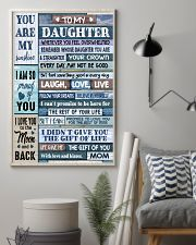 MOM TO DAUGHTER GIFT- WOOD- THE GIFT OF LIFE -YOU  11x17 Poster lifestyle-poster-1
