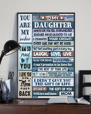 MOM TO DAUGHTER GIFT- WOOD- THE GIFT OF LIFE -YOU  11x17 Poster lifestyle-poster-2