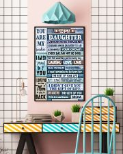 MOM TO DAUGHTER GIFT- WOOD- THE GIFT OF LIFE -YOU  11x17 Poster lifestyle-poster-6
