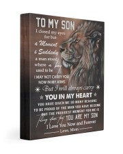 MOM TO SON GIFT CARRY YOU IN MY HEART 11x14 Gallery Wrapped Canvas Prints front