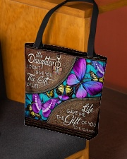 MOM TO DAUGHTER GIFT- BUTTERFLY- GIFT OF LIFE All-over Tote aos-all-over-tote-lifestyle-front-02