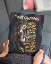 MEME TO GRANDSON GIFT- FATE STORM CROWN -LION 11x14 Gallery Wrapped Canvas Prints aos-canvas-pgw-11x14-lifestyle-front-25