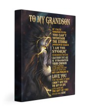 MEME TO GRANDSON GIFT- FATE STORM CROWN -LION 11x14 Gallery Wrapped Canvas Prints front