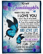 """GRANDMA TO GRANDDAUGHTER GIFT BUTTERFULY PROTECT Large Fleece Blanket - 60"""" x 80"""" front"""