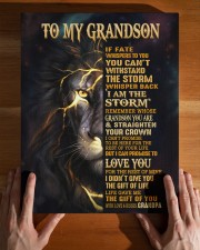 GRANDPA TO GRANDSON GIFT- FATE STORM CROWN -LION 11x14 Gallery Wrapped Canvas Prints aos-canvas-pgw-11x14-lifestyle-front-32