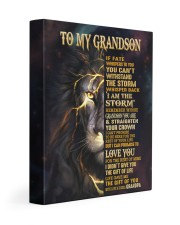 GRANDPA TO GRANDSON GIFT- FATE STORM CROWN -LION 11x14 Gallery Wrapped Canvas Prints front