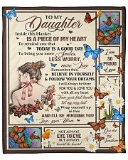 """MOM TO DAUGHTER GIFT-  WORRY LESS SMILE MORE Fleece Blanket - 50"""" x 60"""" front"""