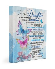 MOM TO DAUGHTER GIFT BUTTERFLY STRONG CONFIDENT 11x14 Gallery Wrapped Canvas Prints front