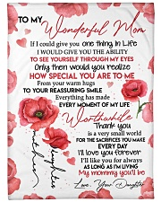 """DAUGHTER TO MOM GIFT HOW SPECIAL YOU ARE TO ME Large Fleece Blanket - 60"""" x 80"""" front"""
