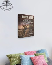 MOM TO SON GIFT- DEER ALWAYS CARRY YOU A MAN STOOD 11x14 Gallery Wrapped Canvas Prints aos-canvas-pgw-11x14-lifestyle-front-02