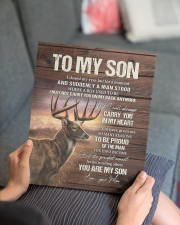 MOM TO SON GIFT- DEER ALWAYS CARRY YOU A MAN STOOD 11x14 Gallery Wrapped Canvas Prints aos-canvas-pgw-11x14-lifestyle-front-25