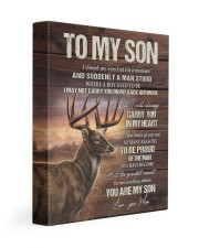 MOM TO SON GIFT- DEER ALWAYS CARRY YOU A MAN STOOD 11x14 Gallery Wrapped Canvas Prints front