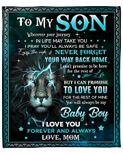"""MOM TO SON GIFT LION NEVER FORGET YOUR WAY BACK Fleece Blanket - 50"""" x 60"""" front"""