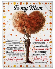 """DAUGHTER TO MOM GIFT- THANK YOU FOR LOVING ME Large Fleece Blanket - 60"""" x 80"""" front"""