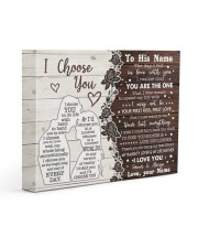 CUSTOM NAME TO HIM GIFT- NAUGHTY LIFE PARTNER 14x11 Gallery Wrapped Canvas Prints front