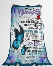 """MOM TO DAUGHTER GIFT- BUTTERFLY - ENJOY THE RIDE Large Fleece Blanket - 60"""" x 80"""" aos-coral-fleece-blanket-60x80-lifestyle-front-10"""
