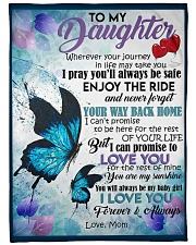 """MOM TO DAUGHTER GIFT- BUTTERFLY - ENJOY THE RIDE Large Fleece Blanket - 60"""" x 80"""" front"""
